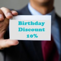 Best Birthday Gift is one with a discount!
